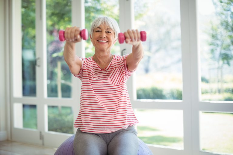 Menopause and exercise - arm weights